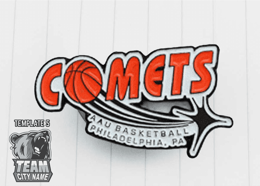 Basketball Style Trading Pins
