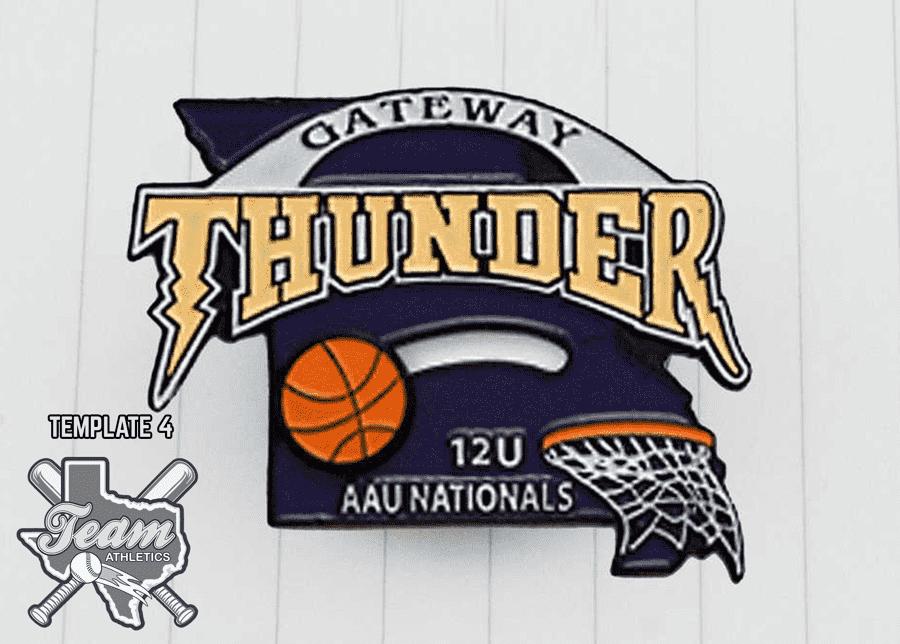 Basketball mascot trading pins