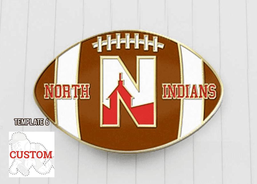 Football trading pin design