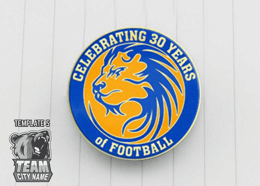Football trading pin