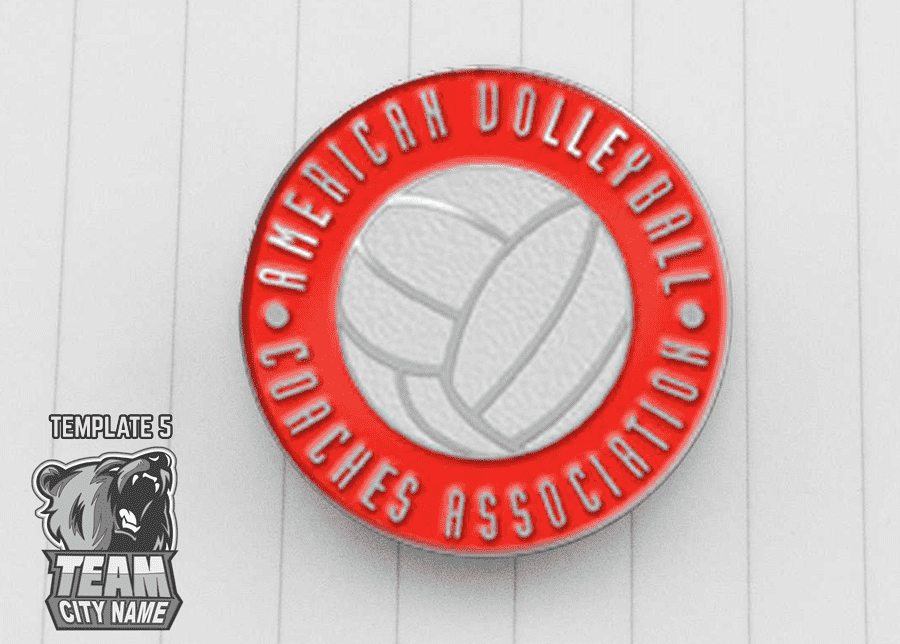 Volleyball trading pin professionals