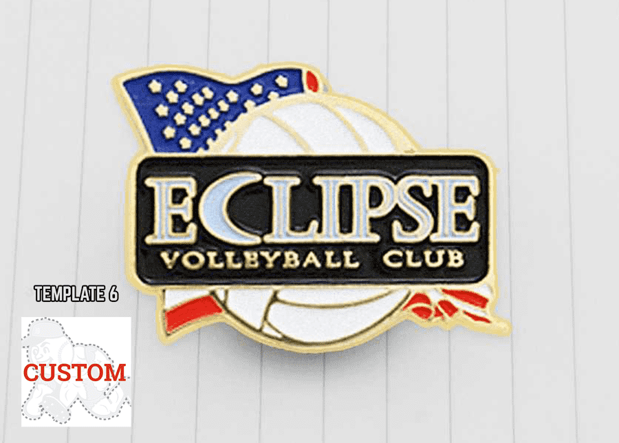 Volleyball Trading Pin Design