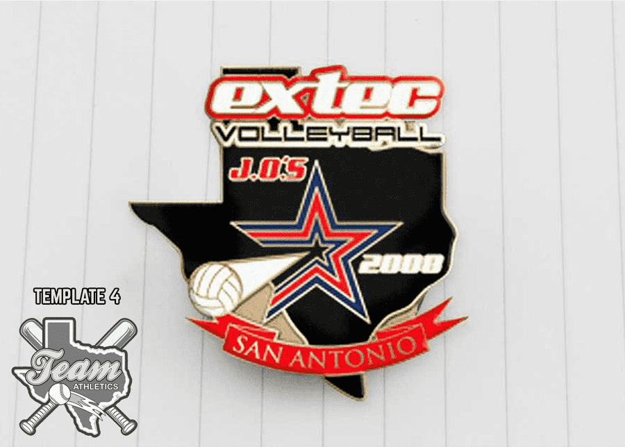 Volleyball Team Trading Pins